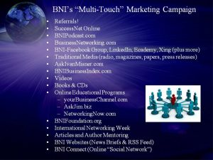 BNI's Multi-Touch Marketing